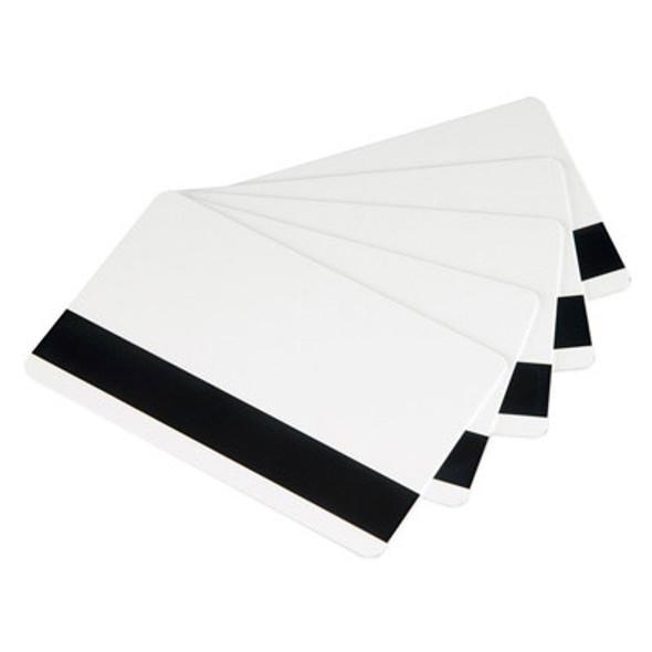 Zebra 104523-113 Zebra white PVC cards, 30 mil high coercivity magnetic stripe (500 cards)