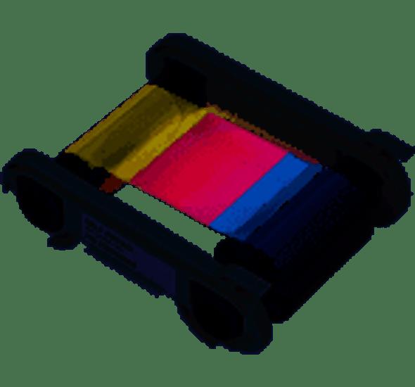 Evolis R5H004NAA 1/2 YMCKO Color Ribbon - 400 prints / roll