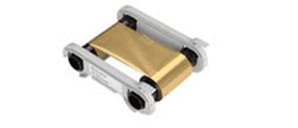 Evolis RCT016NAA METALLIC GOLD Monochrome Ribbon - 1000 prints / roll