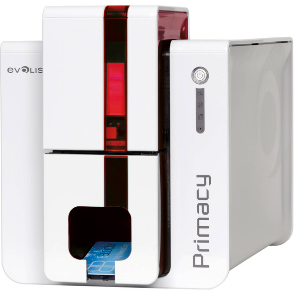 Evolis PM1H00001S Primacy Simplex Expert Fire Red Printer with open output hopper, USB & Ethernet, with Cardpresso XXS software licence
