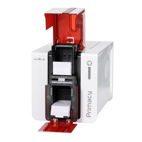 Evolis PM1H0T00RS Primacy Simplex Expert Smart Fire Red Printer with GEMPC USB-TR Smart Card Encoder, USB & Ethernet, with Cardpresso XXS software licence
