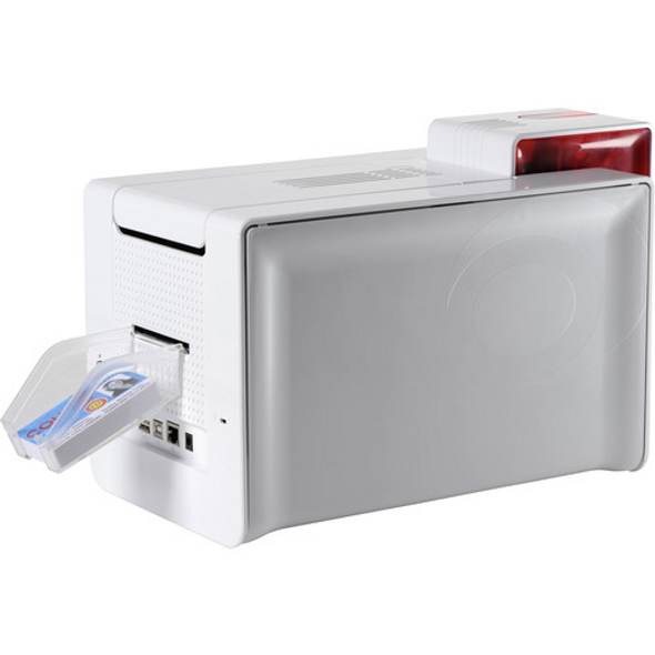 Evolis PM1H0HLBRS Primacy Simplex Expert Smart & Contactless Fire Red Printer with Evolis Elyctis Dual Smart Card and Contactless (IDENTIV chipset) Encoder, USB & Ethernet, with Cardpresso XXS software licence