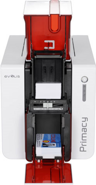 Evolis PM1H0000LD Primacy LCD Duplex Expert Fire Red Printer with Touch Screen LCD display, USB & Ethernet, with Cardpresso XXS software licence