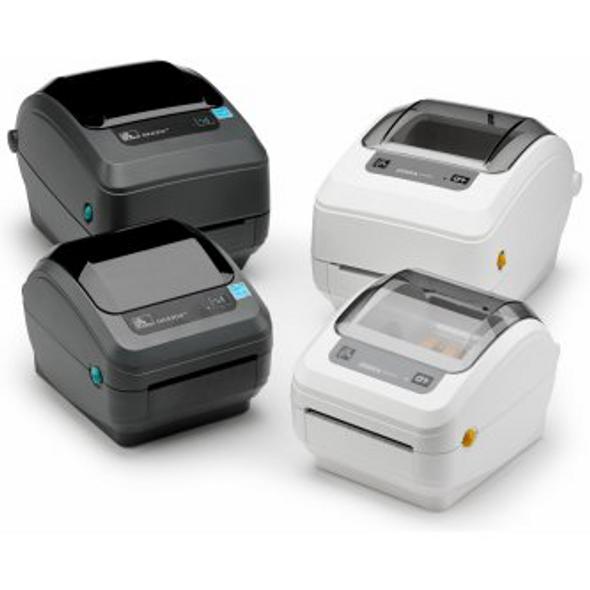 Zebra GK42-102511-000 TT Label Printer GK420t; 203 dpi, US Cord, EPL, ZPLII, USB, Serial, Centronics Parallel, Dispenser (Peeler)