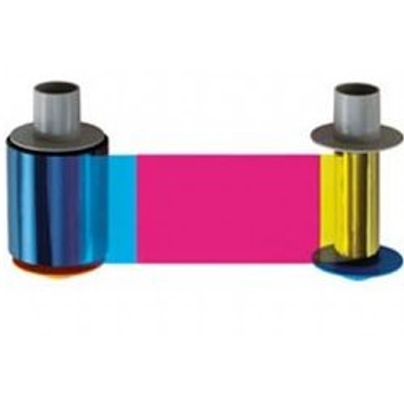 Fargo 84811 YMCK: Full-color ribbon with resin black panel – 500 images