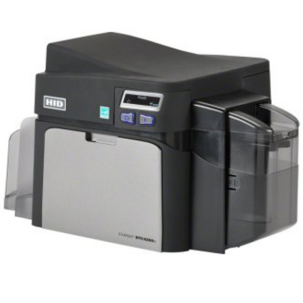Fargo 52600 Includes: DTC4250e single-sided printer with USB Cable, AsureID Express Software, High-End USB digital camera, EZ - full-color ribbon cartridge (250 images), 300 UltraCardTM PVC cards, 1 pack of cleaning rollers