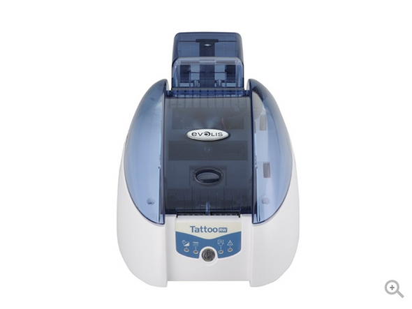 Evolis TTR201BBH-00HS Tattoo2 Rewrite Contactless with SpringCard Crazy Writer encoding module, USB & Ethernet