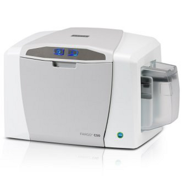 Fargo 51700 BASIC Includes: C50 single-sided printer (NM) with USB Cable, EZ - full-color ribbon cartridge