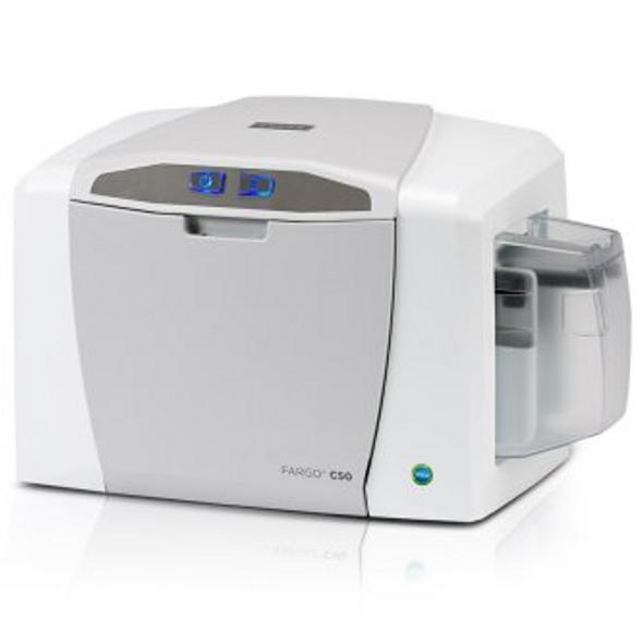 Fargo 51701 C50 single-sided printer (NM) with USB Cable, AsureID Solo Software, USB digital camera, EZ - full-color ribbon cartridge