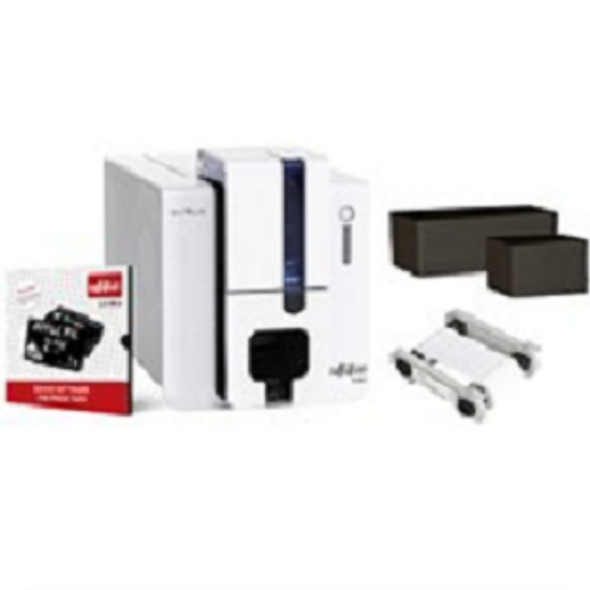 Evolis EF1H0000XS-BS002 Edikio Price Tag - Flex Solution: 1 Edikio Flex Printer (multi-formats, single-sided, USB & ethernet) + 1 Edikio software Standard Edition +100 long black cards (PVC, matte, 50x150mm) + 100 CR-80 black cards (PVC, matt) + 1 white monochrome ribbon (1000 prints CR-80 equivalent)