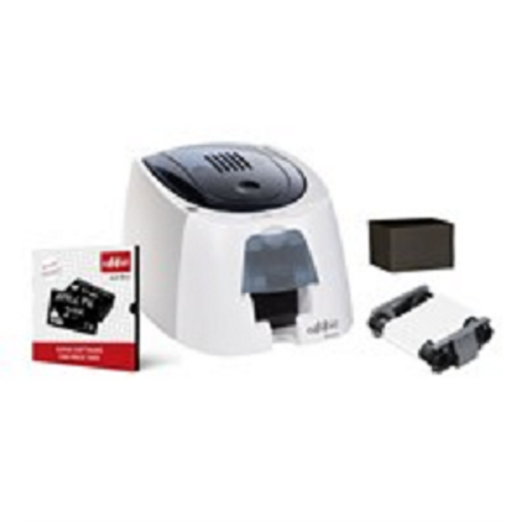 Evolis EA2U0000BS-BS011 Edikio Guest - Access Solution: 1 Edikio Access Printer (single-sided, USB) + 1 Edikio Guest software Start Edition +100 CR-80 black cards (PVC, matte) + 1 white monochrome ribbon (500 prints)
