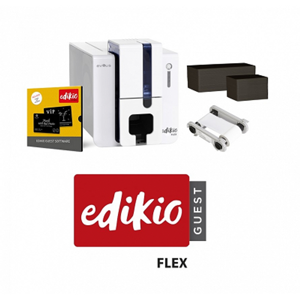 Evolis EF1H0000XS-BS012 Edikio Guest - Flex Solution: 1 Edikio Flex Printer (multi-formats, single-sided, USB & ethernet)