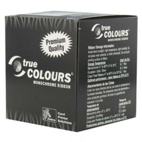 Zebra 800015-106 Zebra C Series metallic gold monochrome ribbon for P3xx, P4xx, P5xx printers, 1000 images 1