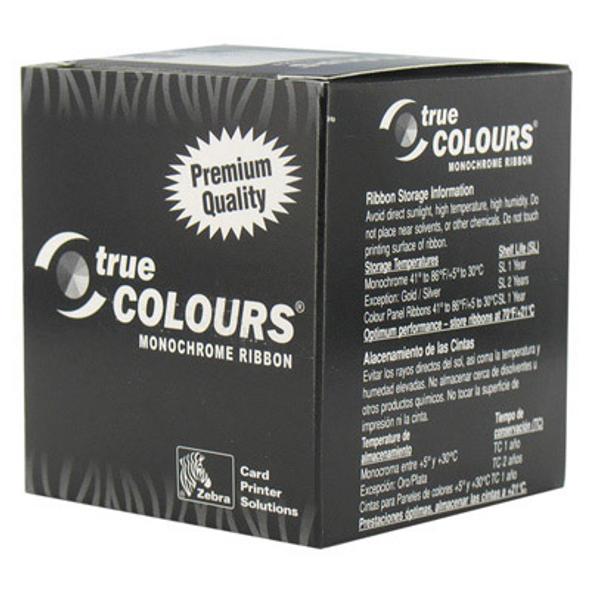 Zebra 800015-107 Zebra C Series metallic silver monochrome ribbon for P3xx, P4xx, P5xx printers, 1000 images 1