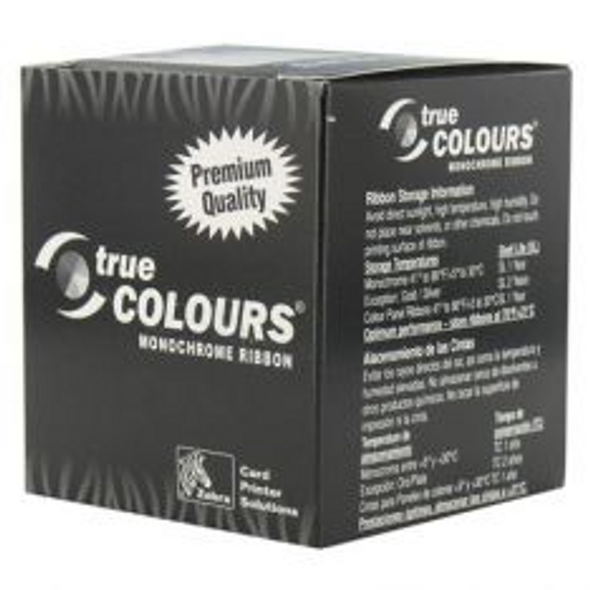 800015-185 Zebra C Series scratch-off gray monochrome ribbon forP3xx, P4xx, P5xx printers, 840 images