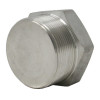 """1"""" Hex Plug, Stainless Steel 3000# Threaded 304L A/SA182"""