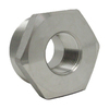 """1-1/4"""" x 3/4"""" Hex Bushing, Stainless Steel 3000# Threaded 304L A/SA182"""