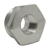 """1-1/2"""" x 1/2"""" Hex Bushing, Stainless Steel 3000# Threaded 304L A/SA182"""