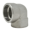 """3/8"""" 90 Elbow, Stainless Steel 3000# Socket Weld 316L A/SA182"""