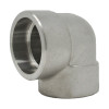 """1-1/2"""" 90 Elbow, Stainless Steel 3000# Socket Weld 316L A/SA182"""