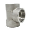 "1"" Tee, Stainless Steel 3000# Socket Weld 316L A/SA182"