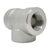 """3/8"""" Tee, Stainless Steel 3000# Threaded 316L A/SA182"""