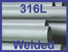 """1"""" Welded Pipe Schedule 5s, Stainless Steel 316/316L ASTM A312 ASME SA312"""