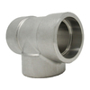 """1"""" x 3/4"""" Reducing Tee, Stainless Steel 3000# Socket Weld 304L A/SA182"""