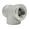 """1-1/2"""" Tee, Stainless Steel 3000# Threaded 304L A/SA182"""
