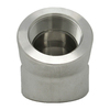 """1/2"""" 45 Elbow, Stainless Steel 3000# Threaded 304L A/SA182"""