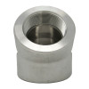 """3/4"""" 45 Elbow, Stainless Steel 3000# Threaded 304L A/SA182"""