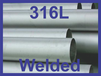 """5"""" Welded Pipe Schedule 5s, Stainless Steel 316/316L ASTM A312 ASME SA312"""
