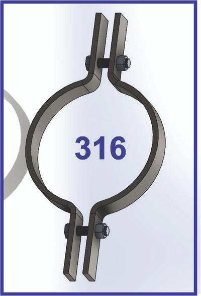 AIS 316 Stainless Steel  Riser Clamp