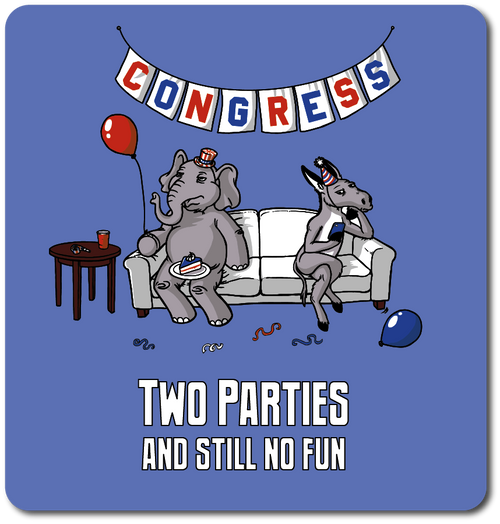Congress. Two parties and still no fun.