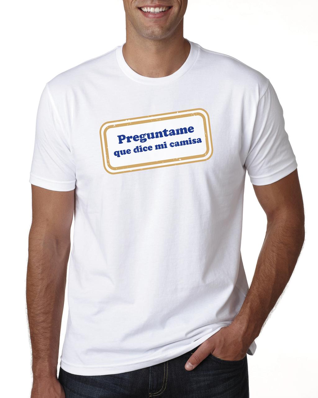 Preguntame que dice mi camisa