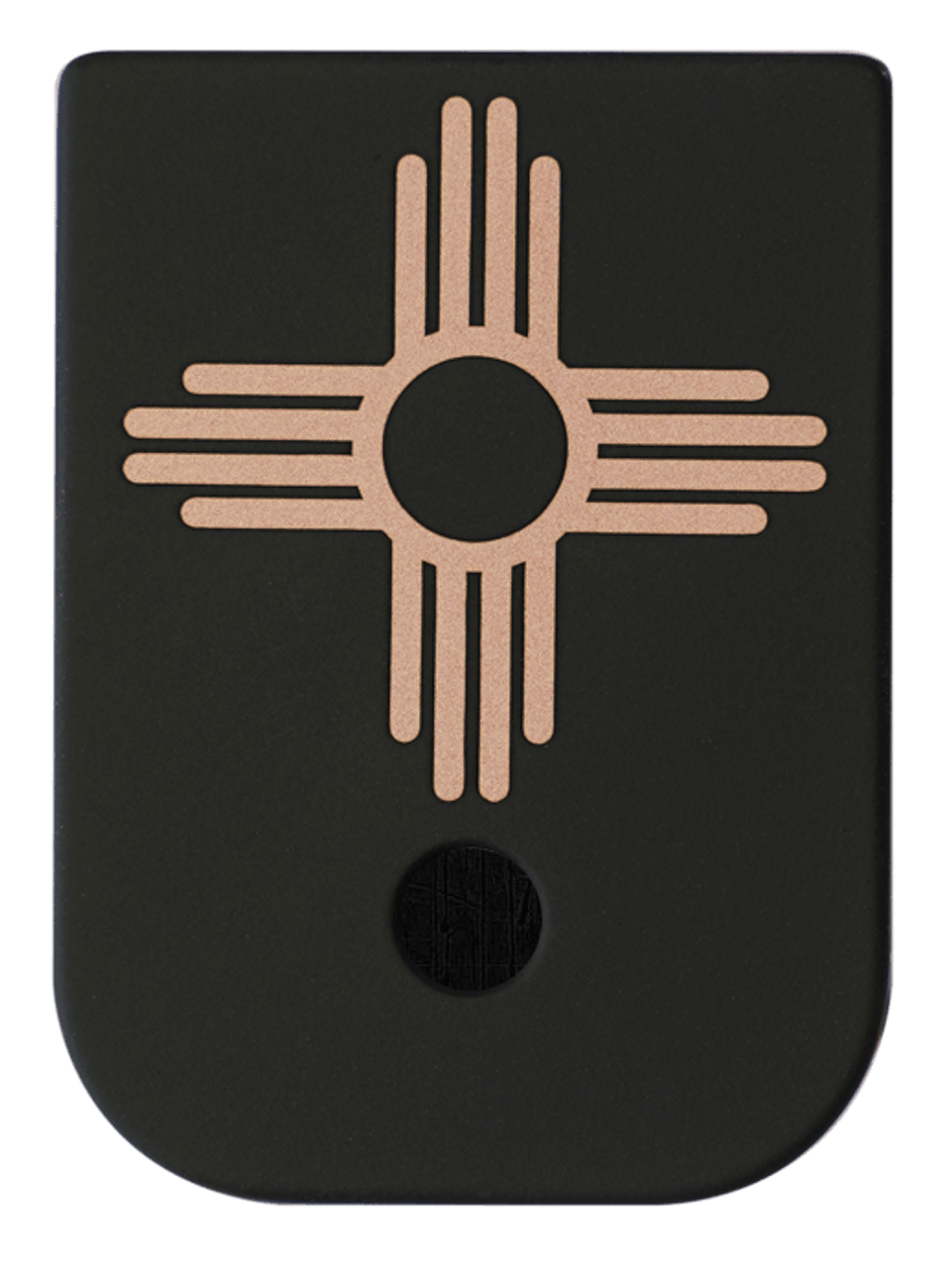 New Mexico Flag Black Traditional Finish Copper Mag Plate Classy Raptor Tactical