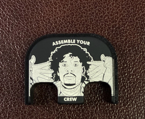 Assemble Your Crew - Black Traditional Finish - Stainless Steel Back Plate