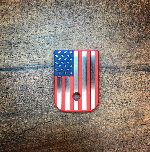 American Flag - Full Color - Stainless Steel Mag Plate