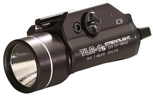 Streamlight, TLR-1s, Tactical Light, C4 LED, 300 Lumens with Strobe, Black Finish, with Batteries