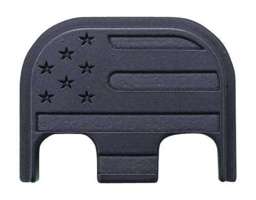 American Flag Stainless Steel Blackout Finish Back Plate