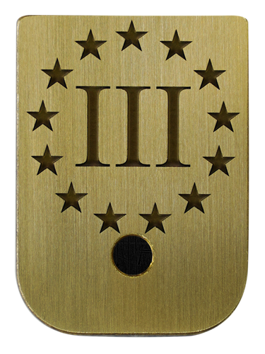 III% Mag Plate - 3 Finishes Available