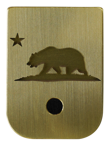 California Flag Mag Plate - 3 Finishes Available