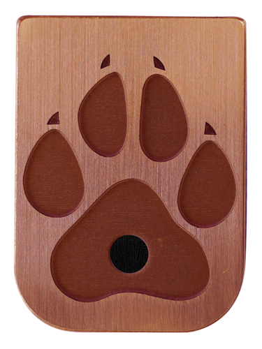 Dog Paw Mag Plate - 3 Finishes Available