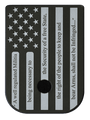 American Flag 2A Stainless Steel Black Traditional Finish Mag Plate