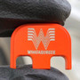 Whataburger - Orange Traditional Finish- Stainless Steel Back Plate