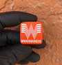 "Whataburger - Orange Aluminum 1"" x 1"" Metal Patch"