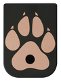 Dog Paw Brass Black Traditional Finish Mag Plate