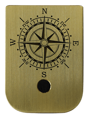 Compass Mag Plate - 3 Finishes Available