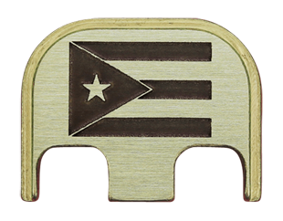 Puerto Rico Flag Back Plate - 3 Finishes Available