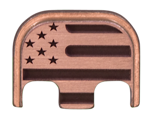 American Flag Back Plate - 3 Finishes Available